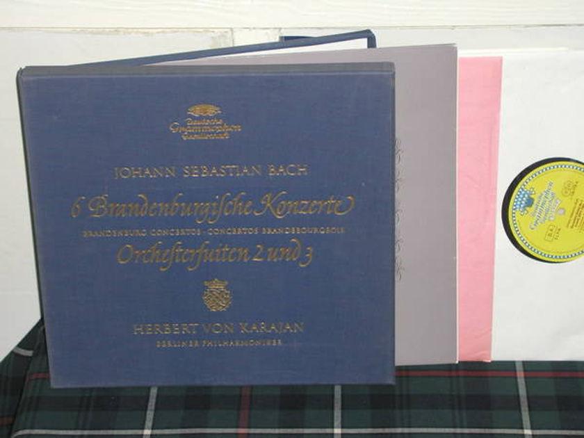 Von Karajan/Bpo - Bach Brandenburg DGG TULIP German 3lp box