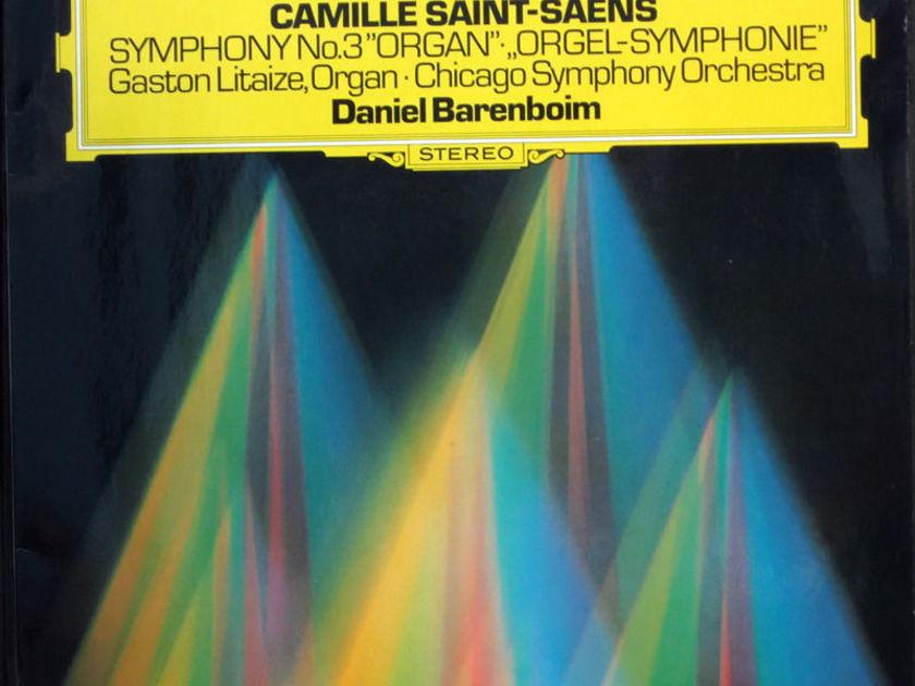 DEUTSCH GRAMMOPHON  - CAMILLE SAINT-SAENS  SYMPHONY No. 3 Chicago Symphony, Barenboim