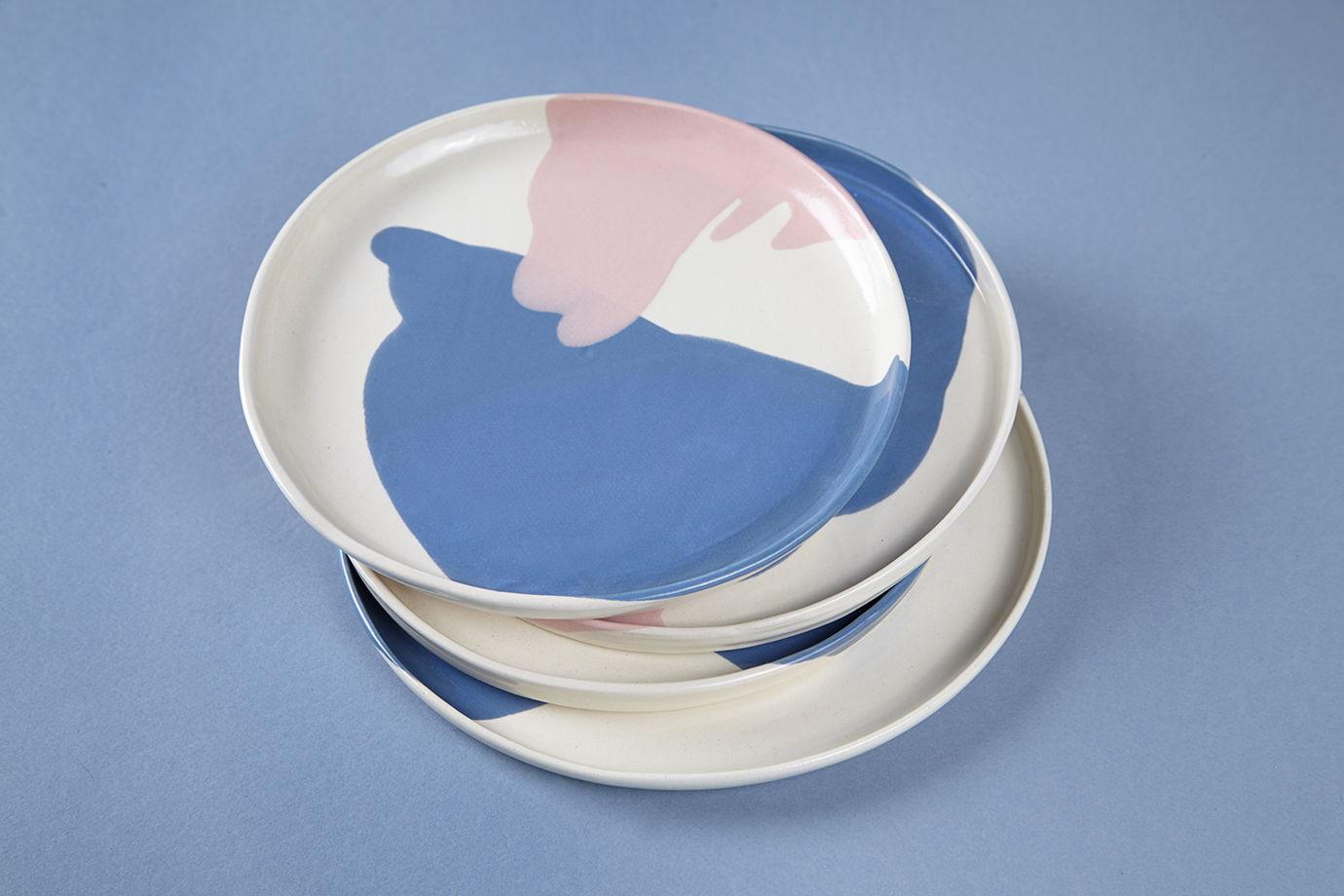 Плоская тарелка «Ботаника» (под заказ)
