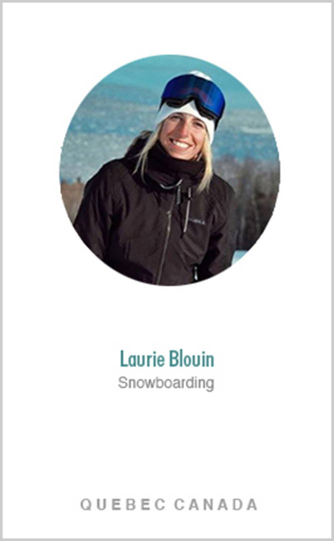 Snowboarder Laurie Blouin