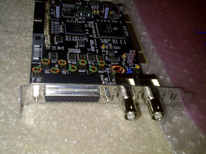 RME Computer sound card, HDSP AES-32 with breakout cable