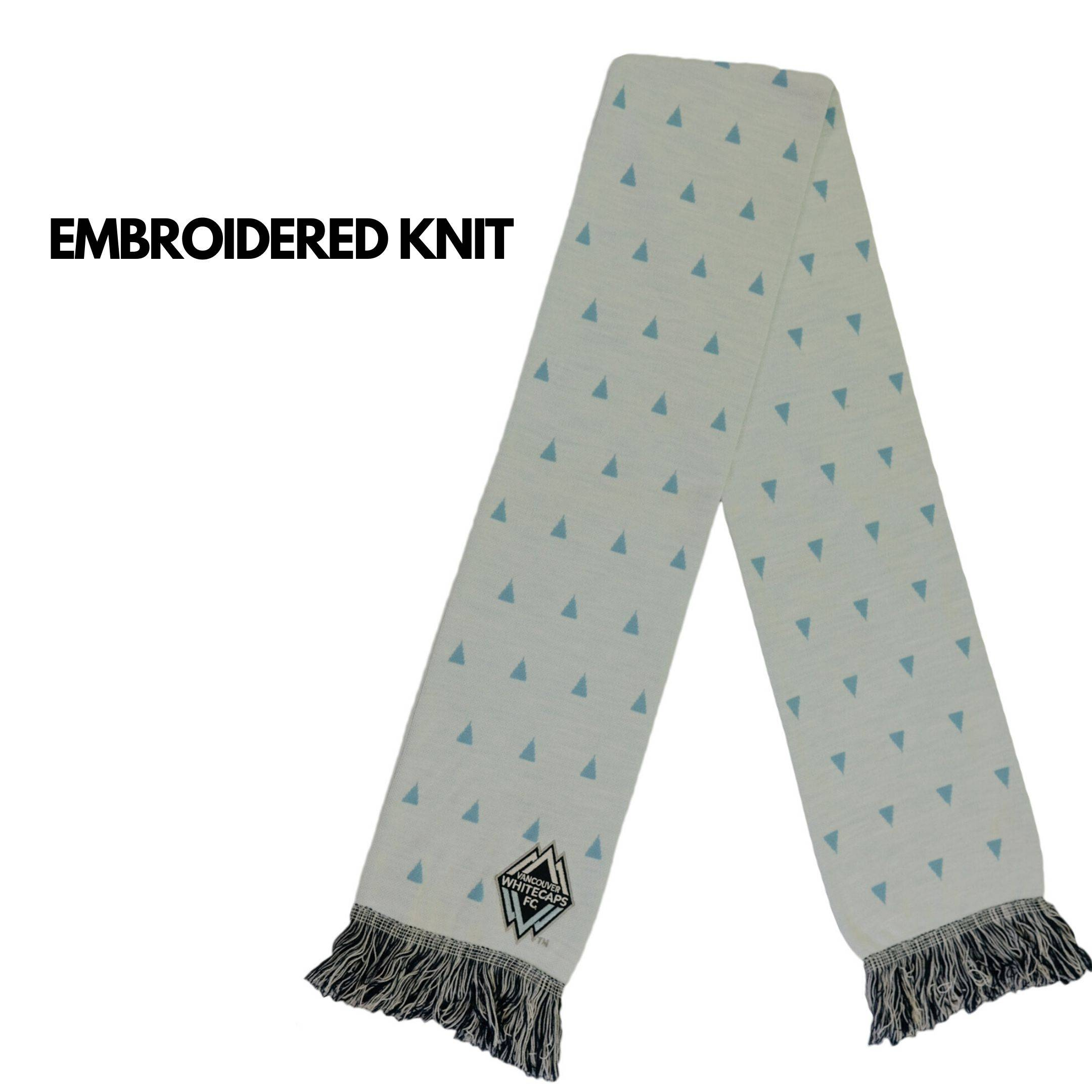 embroidered knit scarf