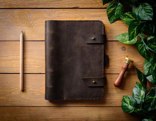 Кожаный блокнот-органайзер -FOLIO- формат А5 цвет Шоколад