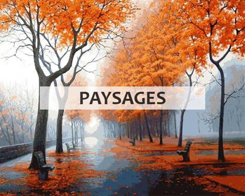 Peinture par numéros collection paysages