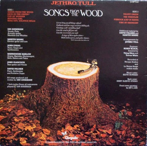 Jethro Tull Songs From The Wood 1977 Chrysalis Chr1132