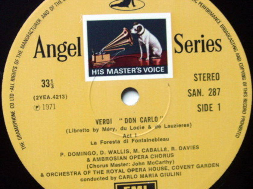 EMI HMV SAN / GIULINI-DOMINGO, - Verdi Don Carlo, NM, 4LP Box Set!