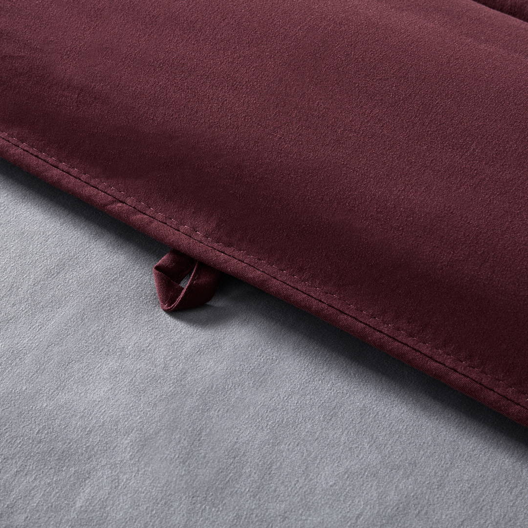 sleep zone bedding website store products collection all season reversible comforter burgundy grey gray detail