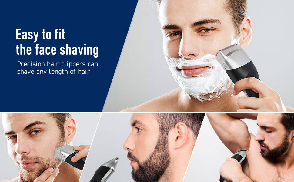 Aposen Electric Razor G5 is easy to fit the face shaving