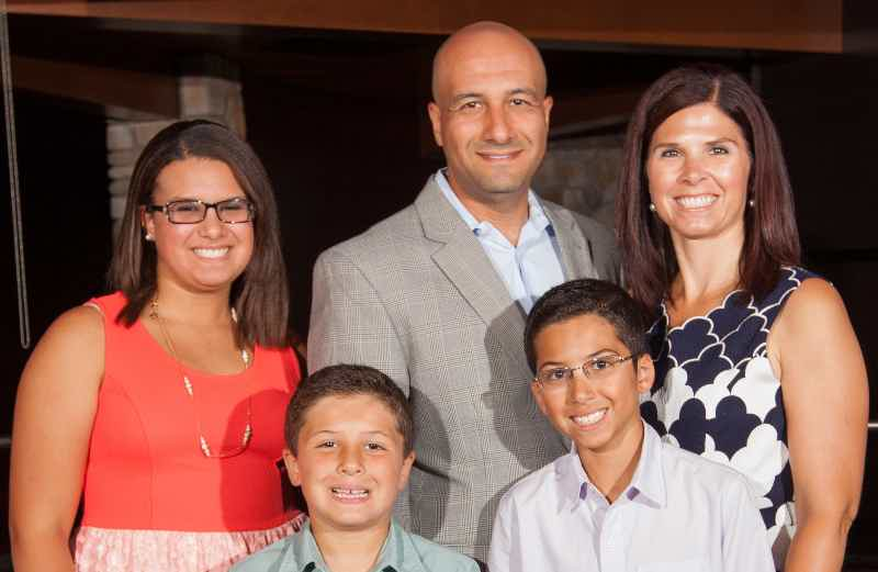 Franchise Owners of Primrose School Natosha and Ehab Eskander with their family