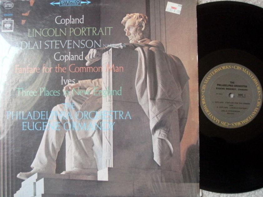 Columbia 2-EYE / EUGENE ORMANDY,  - Copland Lincoln Portrait, NM!