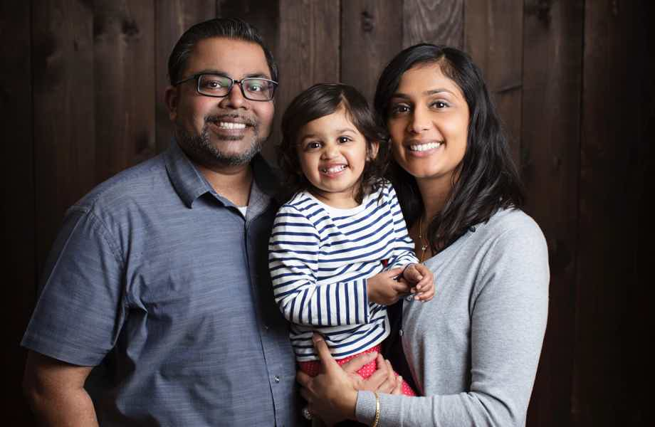 Franchise Owners of Primrose School Urvi & Beau Athia with their young daughter