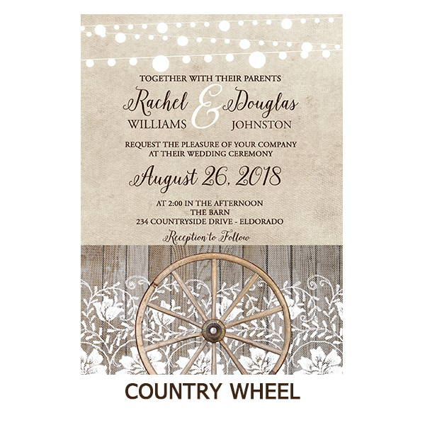 Country Western Barn Lace Wedding Suite