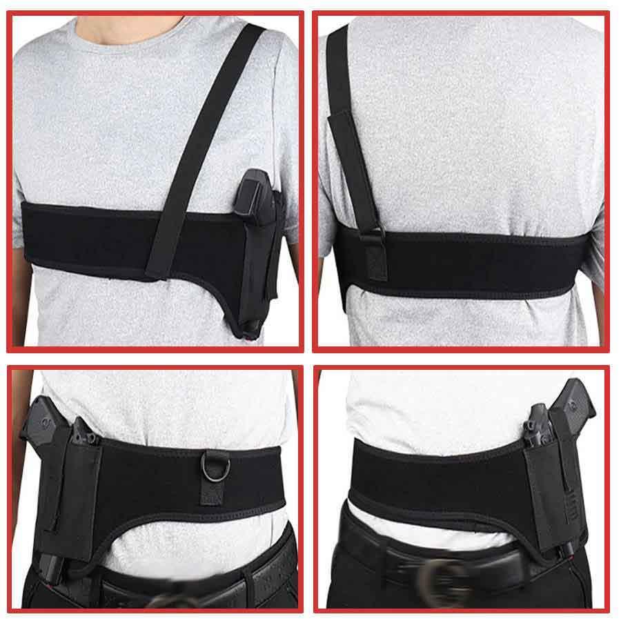 shoulder holster, belly holster, right hand shoulder holster, left hand shoulder holster