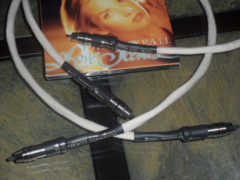 AMADI CABLES Barb Masters. MK. 11. RCA .3ft. Limited time only.