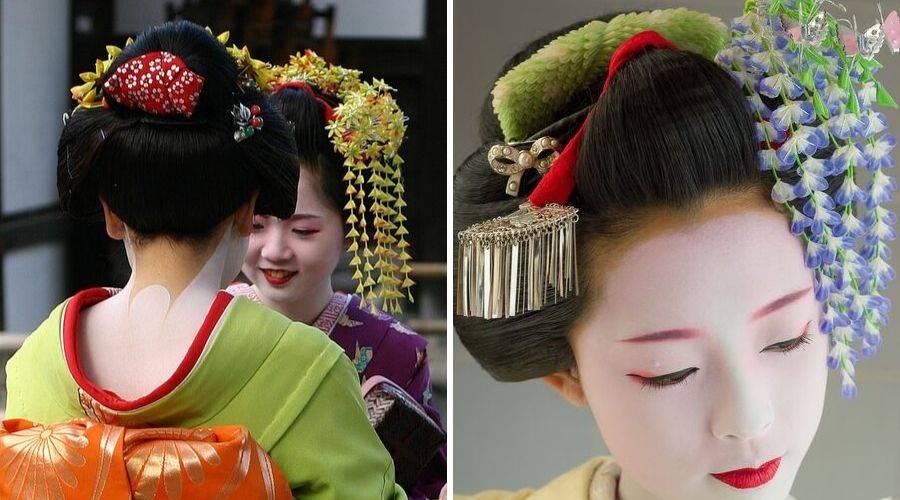 Ofuku shimada and ornate kanzashi