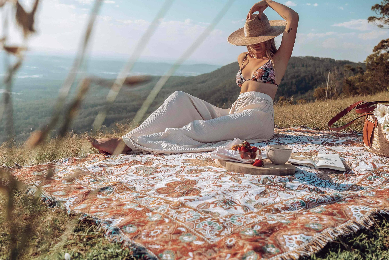 Boho Picnic Rugs & Blankets