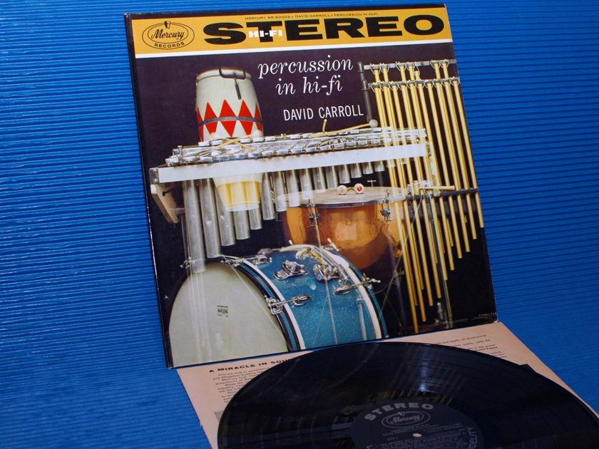 "DAVID CARROLL -  - ""Percussion in Hi-Fi"" -  Mercury 1959 1st pressing"