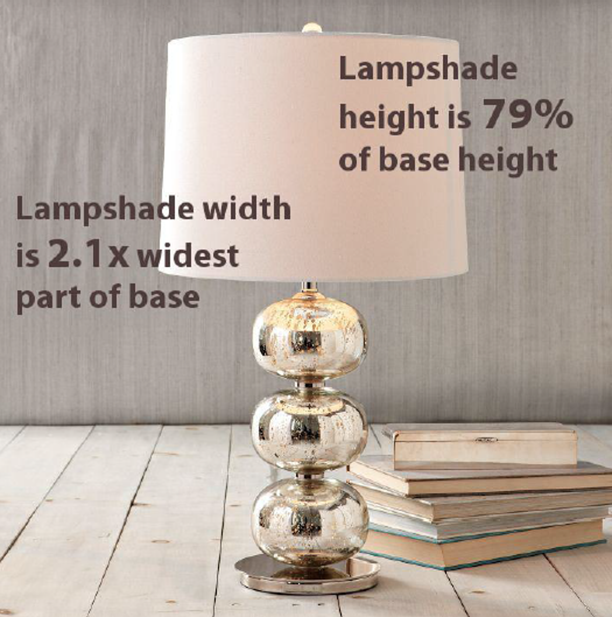 Table lamp height - For Table Lamps The Height Should Be Approximately 60 And 80 Of The Height Of The Lamp Base For Example A Table Lamp Base That S 20 Inches High Should