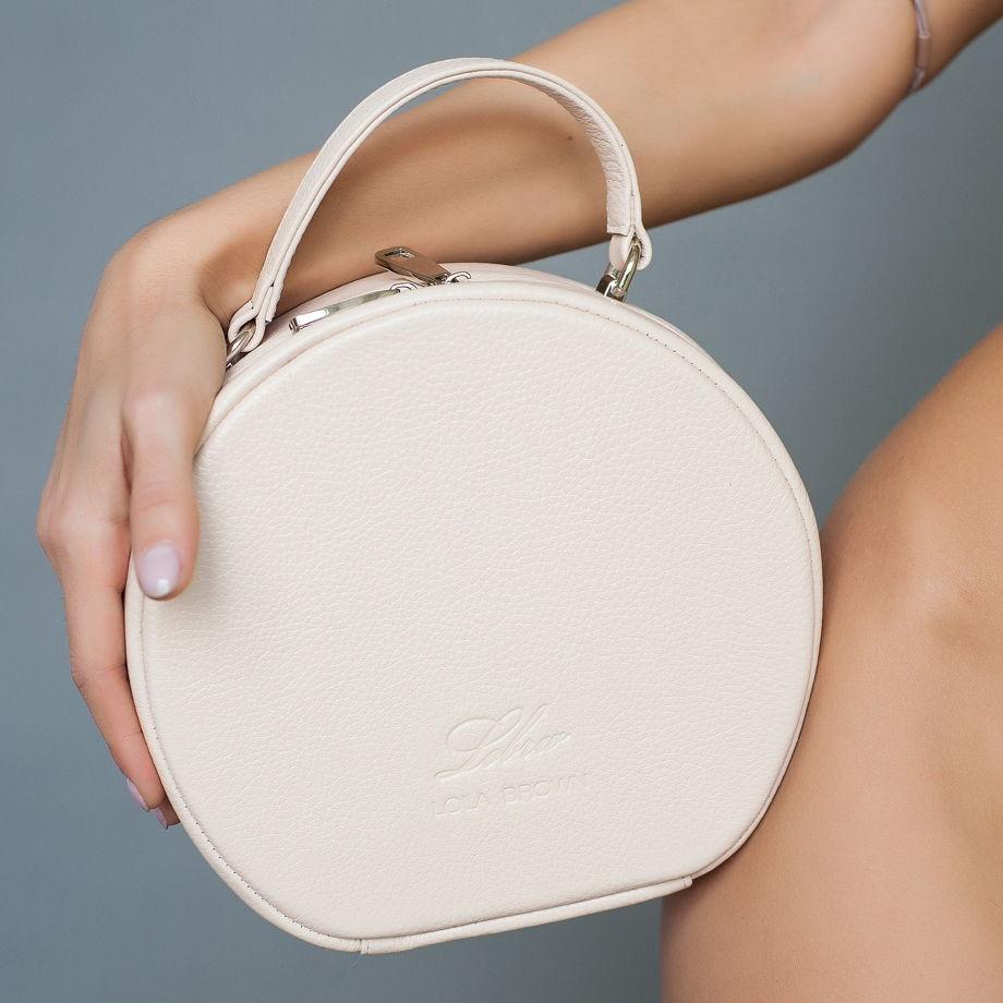 "Круглая сумочка из натуральной кожи ""Miss Coco"""