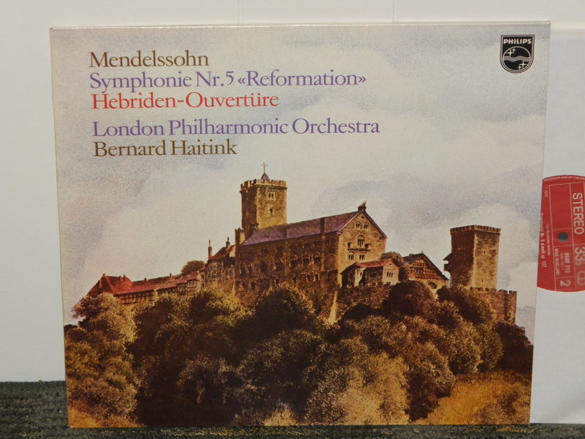 Bernard Haitink/London Philharmonic Orch - Mendelssohn Symphony No. 5 + More Philips Import Pressing 9500 713