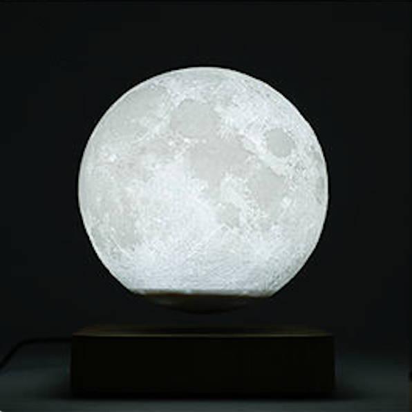 White Moon Lamp, White Levitating Moon Lamp, Moon Lamp