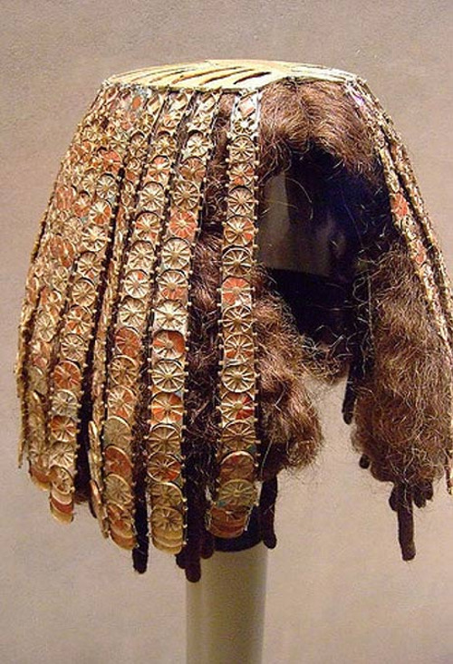 Ancient Egyptian Wig and Headdress