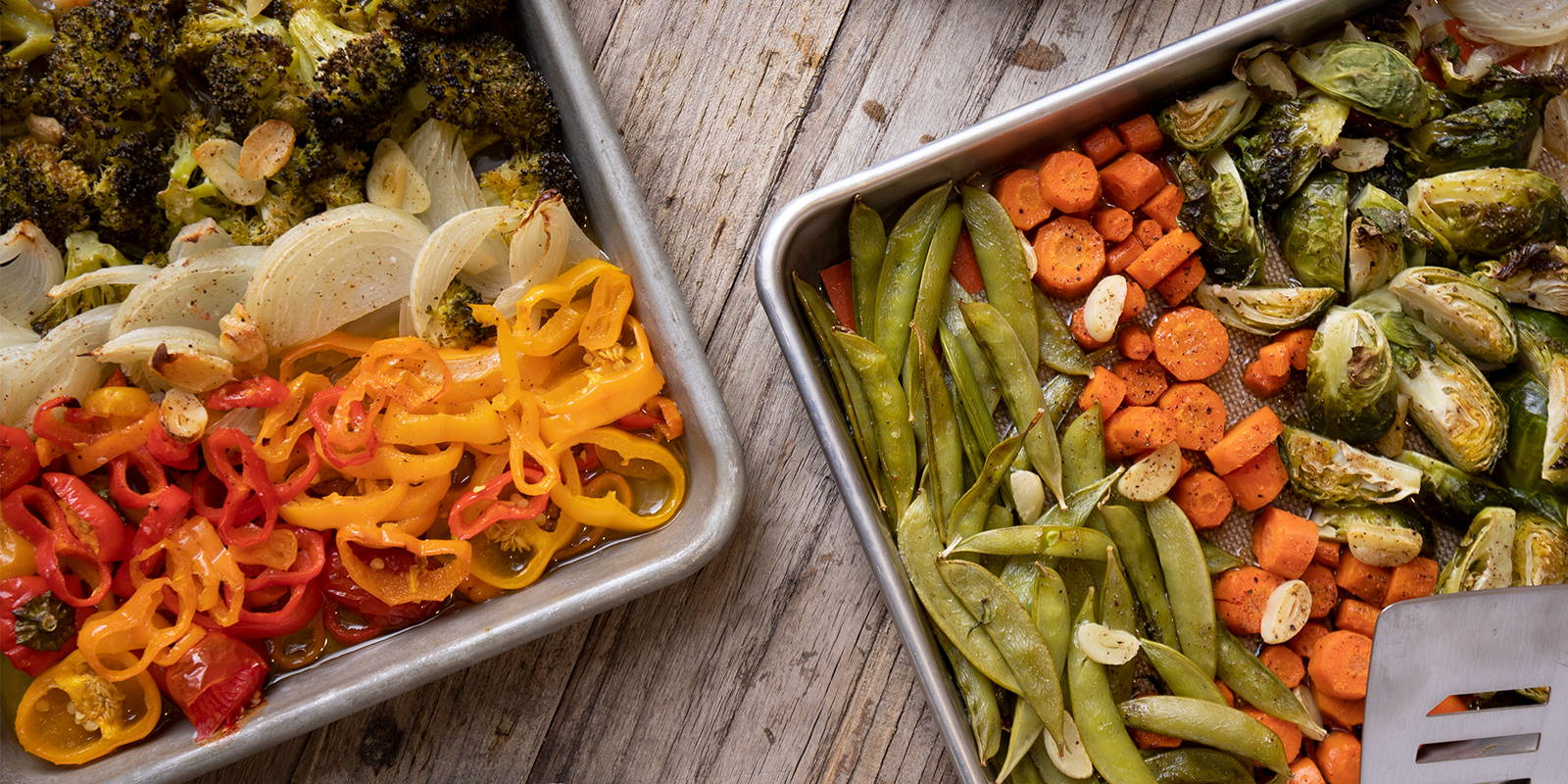Vegan sheet pan recipes for serving guests and family.