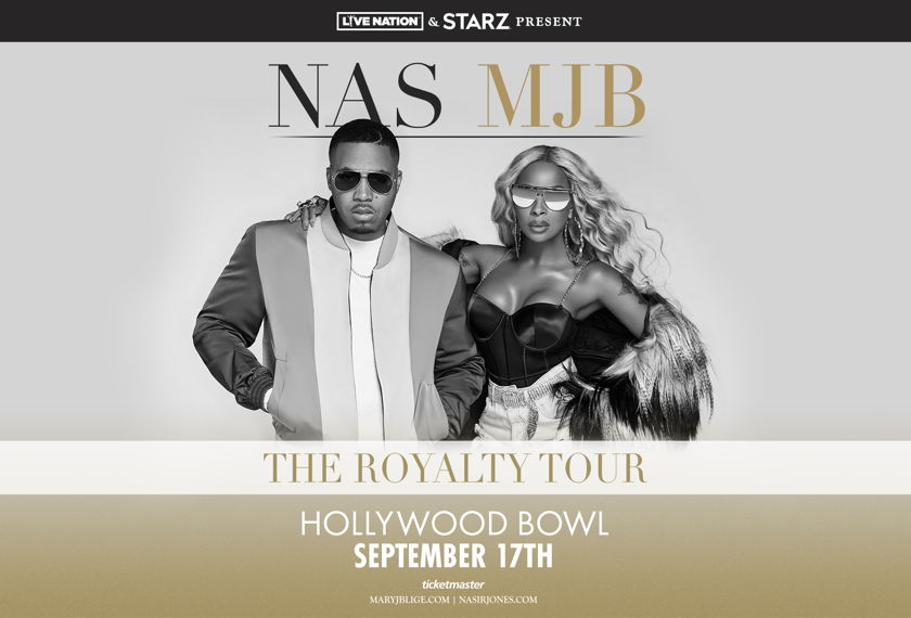 Mary J. Blige and Nas The Royalty Tour artwork