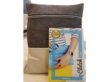 Lisa Becker's book & a leather purse