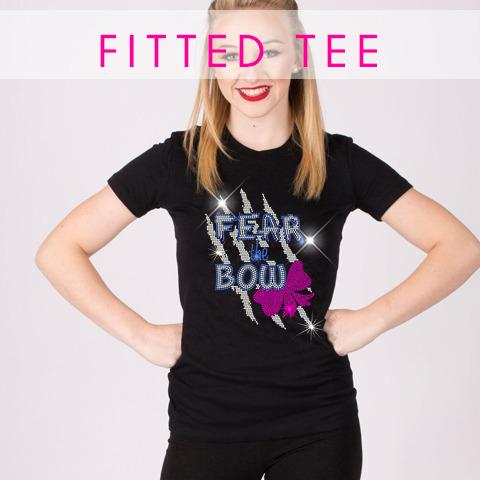 glitterstarz custom bling tee black fitted shirt for cheerleading dance