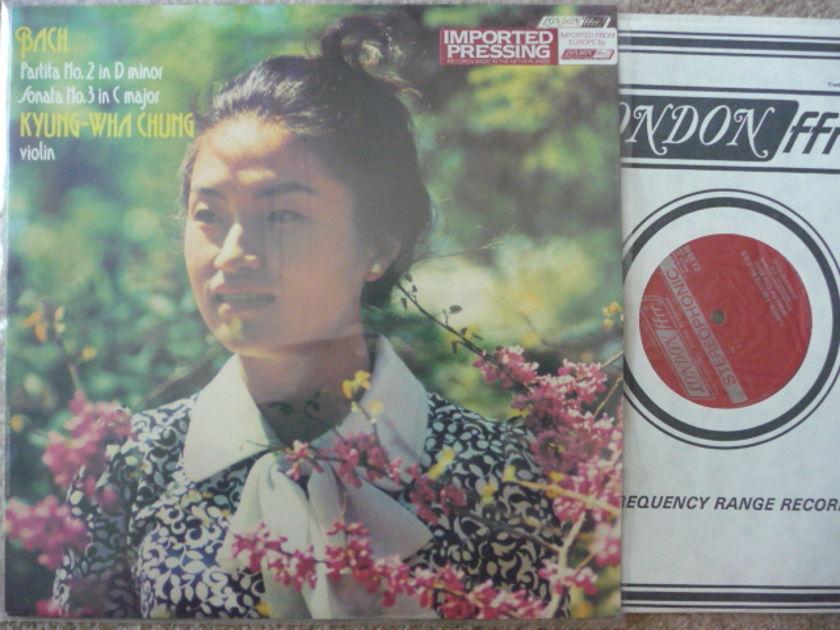 BACH PARTILA 2 SONATA 3 - KYUNG WHA  CHUNG VIOLIN LONDON LP EXCELLENT