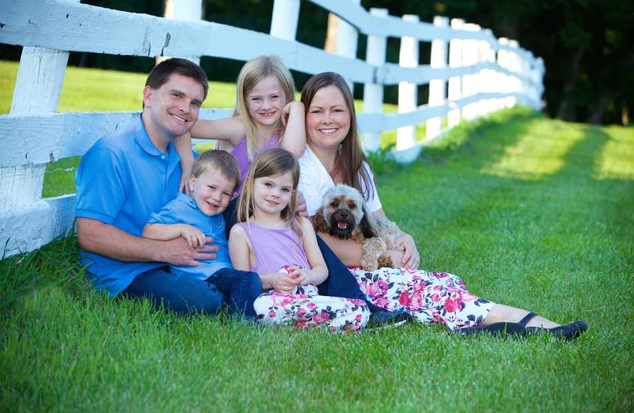 Franchise Owners of Primrose School Melisa and Vincent Schultz with their family