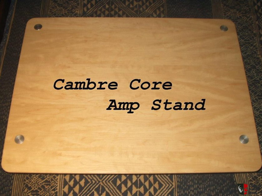 Cambre Core Amp Stand Maple w/silver posts was $350 MAKE OFFER!