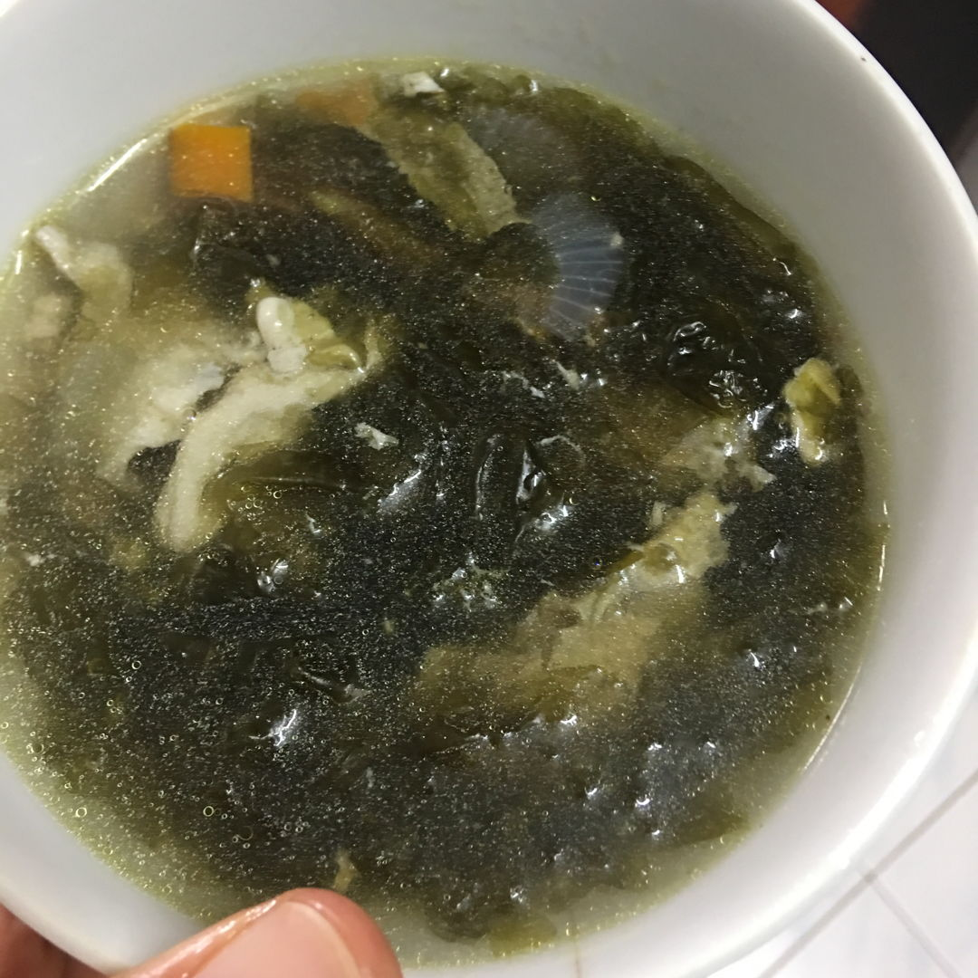 April 24th, 20 - Seaweeds soup. gal and boy voted for seaweeds.