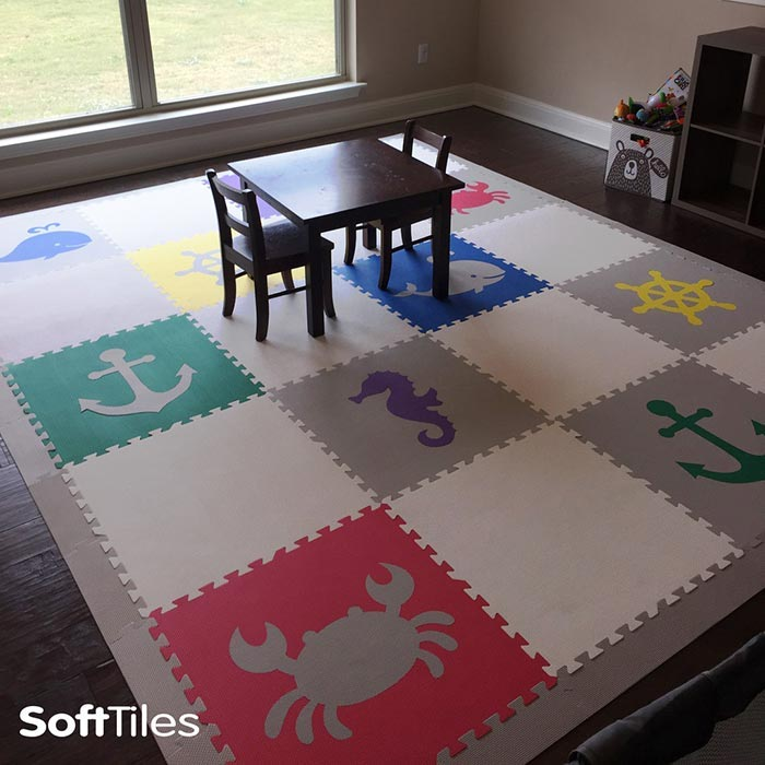 SoftTiles Playroom Custom Foam Play Mat