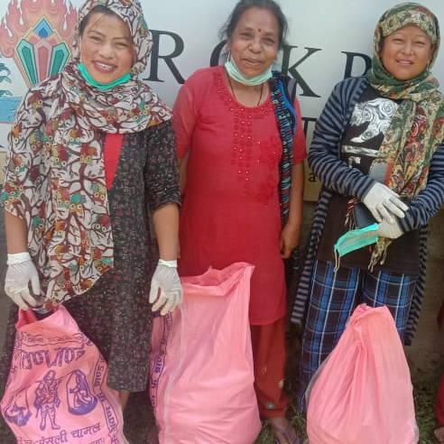 Three women in Nepal
