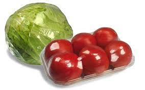 shrink wrapped food produce