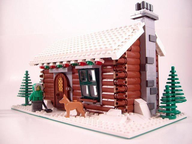 lego Winter Log Cabin