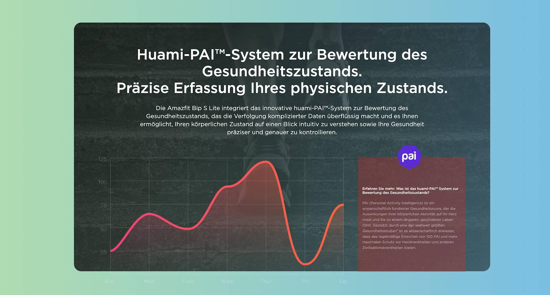 Amazfit DE - Amazfit Bip S Lite - Huami-PAI™-System zur Bewertung des Gesundheitszustands | Präzise Erfassung Ihres physischen Zustands.