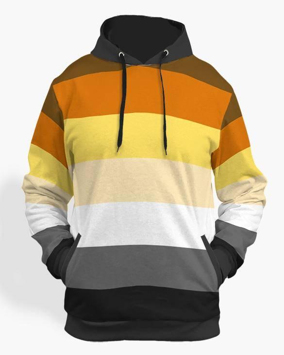 bear pride flag hoodie