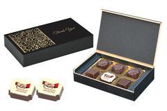 Return Gifts for Wedding Reception - 6 Chocolate Box - Single Printed Candy (10 Boxes)