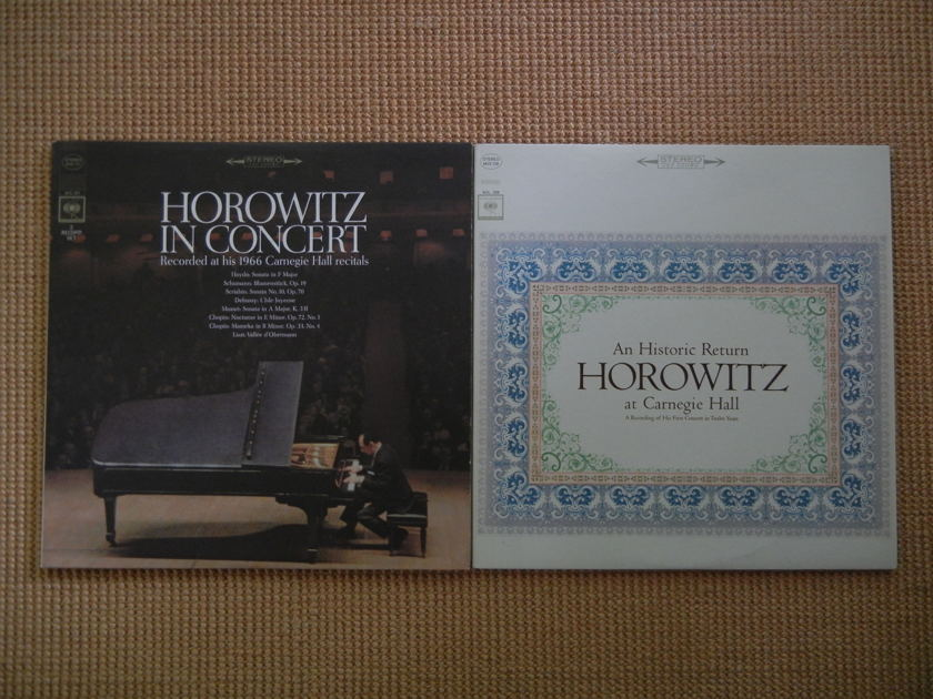 Horowitz Collection - 4 LP's, Carnegie Hall, Moscow, The Last Romantic Total 6 LP's