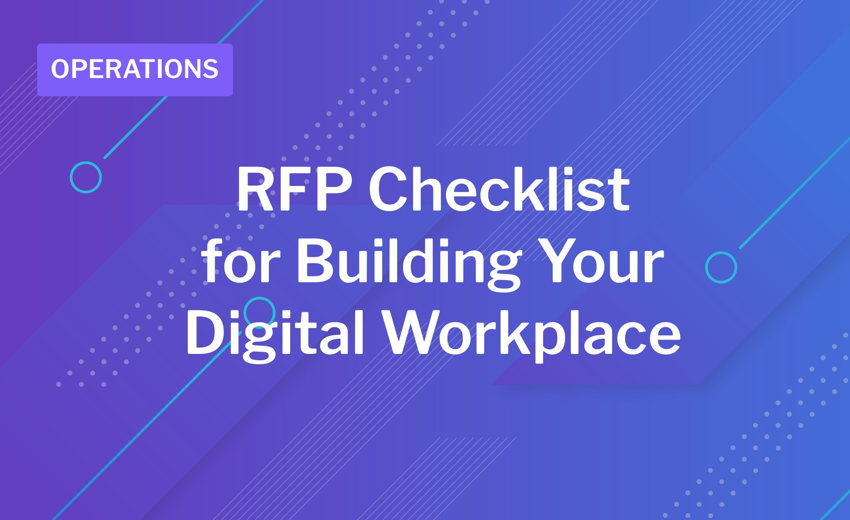 Digital Workspace Software RFP Checklist