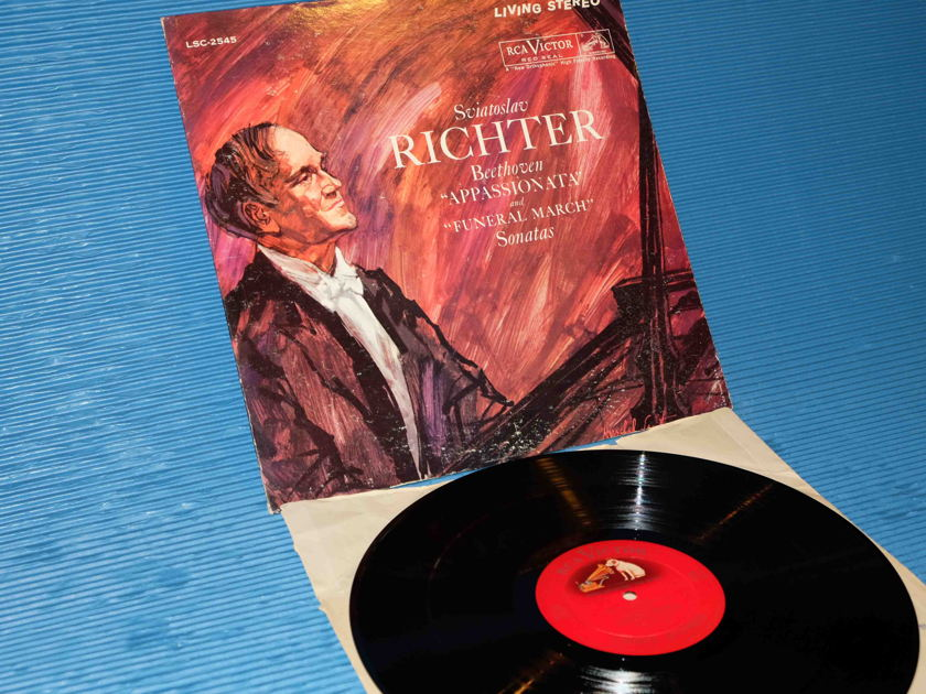 "BEETHOVEN / Richter -  ""Appassionata & Funeral March Sonatas"" - RCA 1960 'Shaded Dog' 1S/1S"
