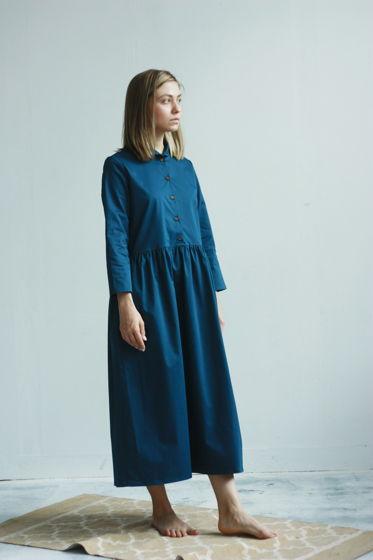 Платье с воротничком цвета моря