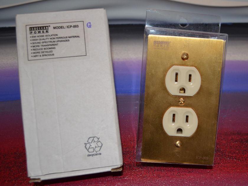 Isoclean ICP-003 GOLD 24K Duplex Socket