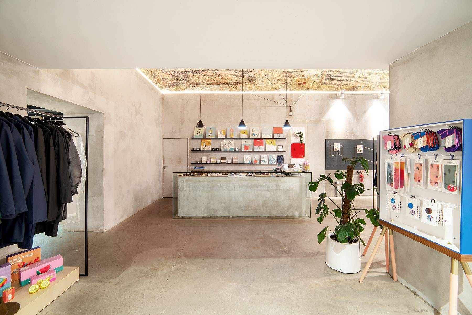 View of the interior at The Feeting Room concept store in Chiado Lisboa