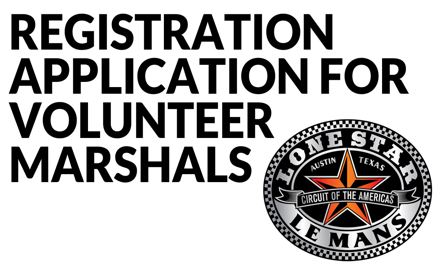 WEC Lone Star Le Mans- 2017 Volunteer Participants