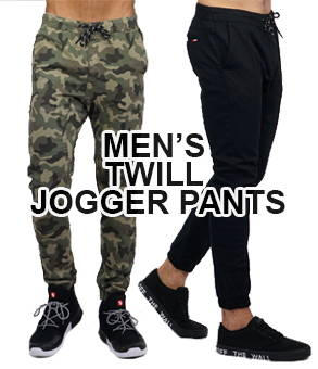 Shop men's twill jogger pants