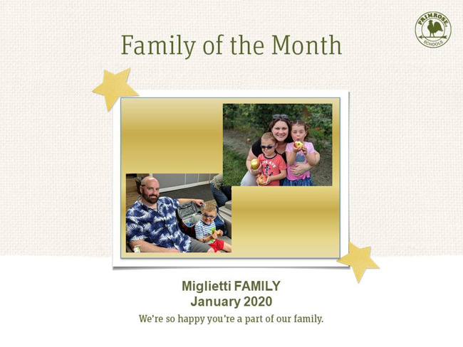 January family of the month miglietti